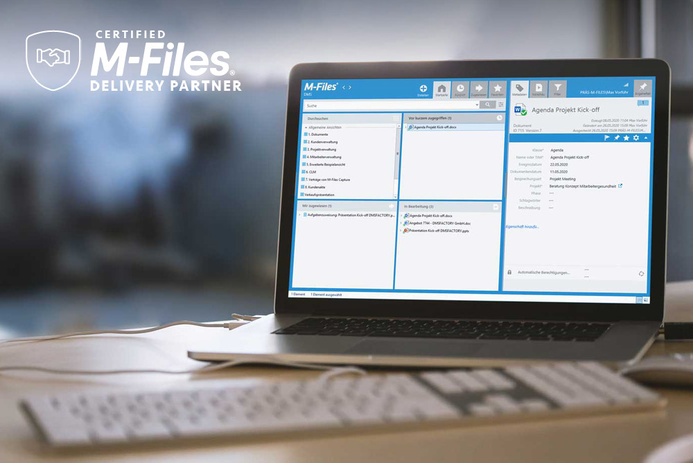 Wir sind Certified M-Files Delivery Partner